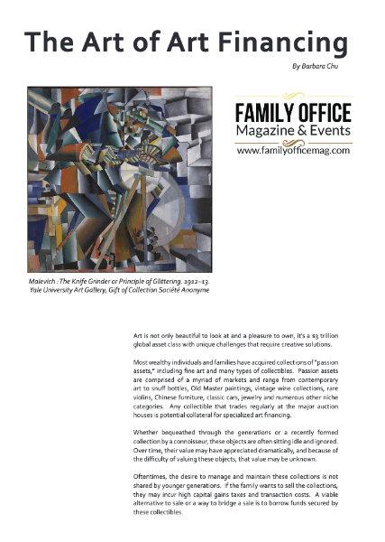 The Art of Art Financing